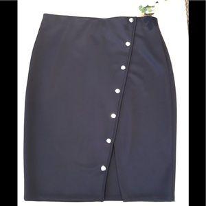 Eloquii Navy Blue Pencil Skirt